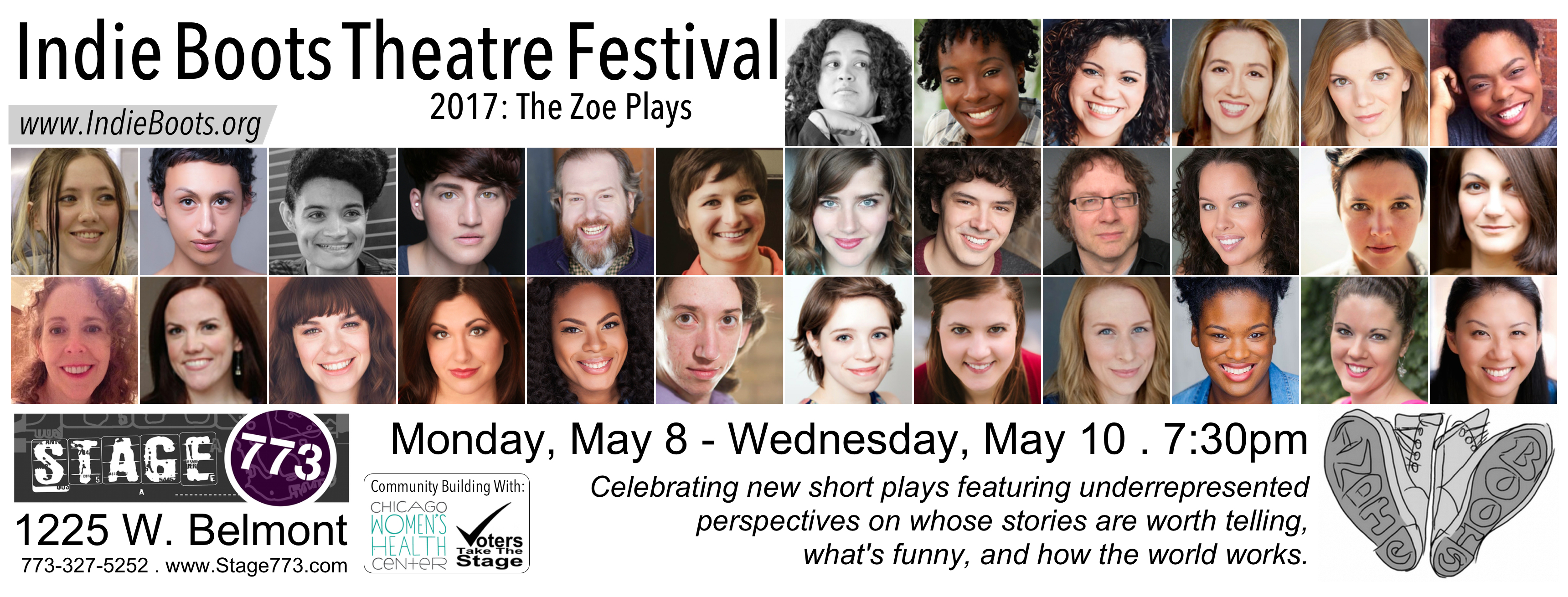 Indie Boots Theatre Festival 2017: The Zoe Plays postcard